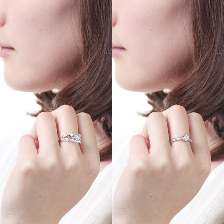 指にはまっている指輪を別の指輪に置き換える その2