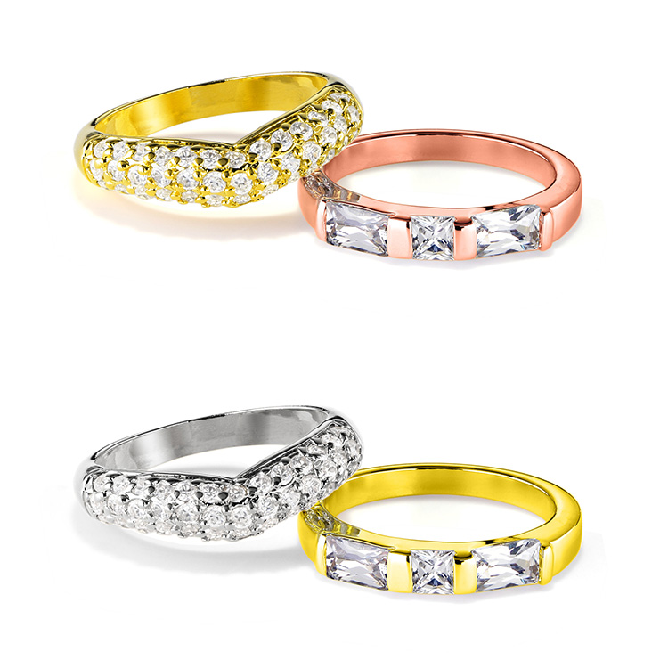 指輪の金属の色変更 イエローゴールドからホワイトゴールド、ピンクゴールドからイエローゴールドへ